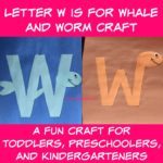 Letter W is for Whale and Worm Craft
