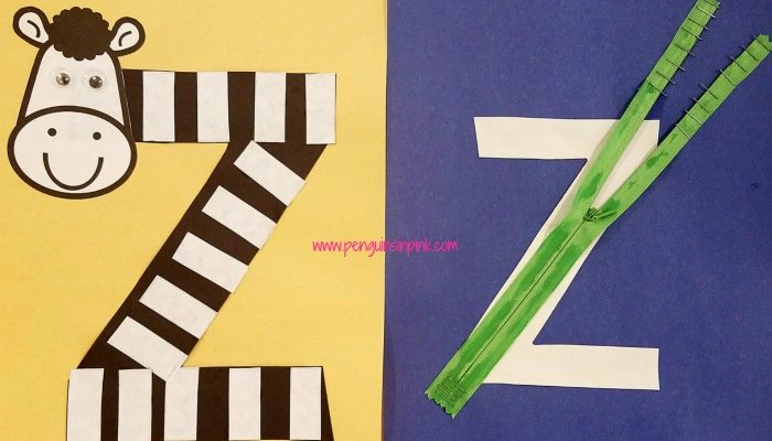 Letter Z is for Zebra and Zipper Craft