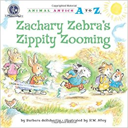 Zachary Zebra's Zippity Zooming by Barbara deRubertis