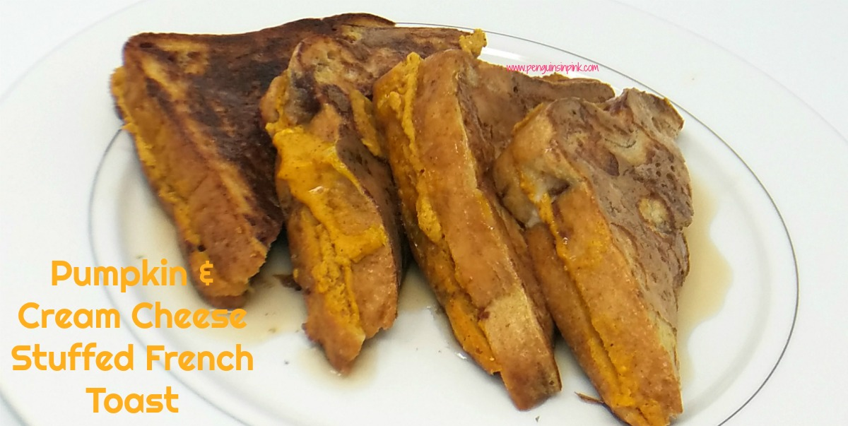Delectable pumpkin and velvety cream cheese combine with sweet cinnamon swirl bread to create an enticing yet easy breakfast. Pumpkin and cream cheese stuffed french toast is perfect for fall mornings or holiday gatherings.