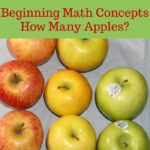 Beginning math concepts how many apples contains 7 activities to introducing the math concepts counting, quantities, patterns, graphing, similarities, differences, and greater than, less than, or equal to to your kids using apples.