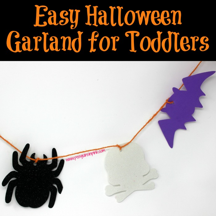Easy Halloween Garland for Toddlers