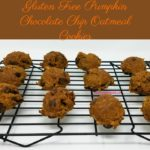 Delicious pumpkin combines with sweet chocolate to make a soft, moist, yummy cookie that you won't believe is vegan-friendly, and gluten free, dairy free, & egg free! Gluten Free Pumpkin Chocolate Chip Oatmeal Cookies are the perfect afternoon or evening snack.