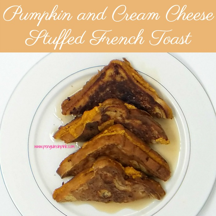Pumpkin and Cream Cheese Stuffed French Toast