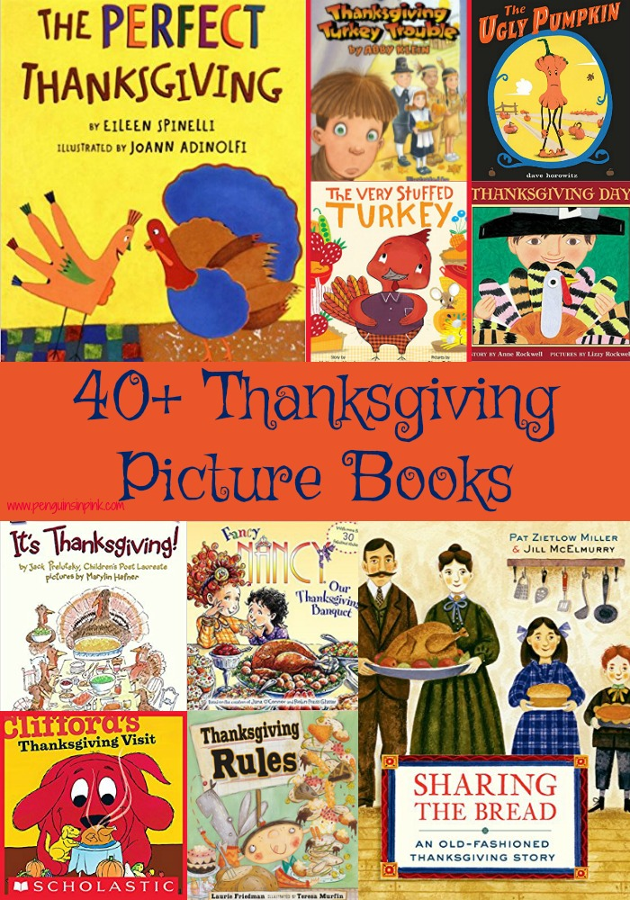 These 40+ Picture Thanksgiving books are perfect for read-alouds and for beginning readers to practice reading. The books range from Preschool to 3rd grade with a few 4th/5th grade level books.