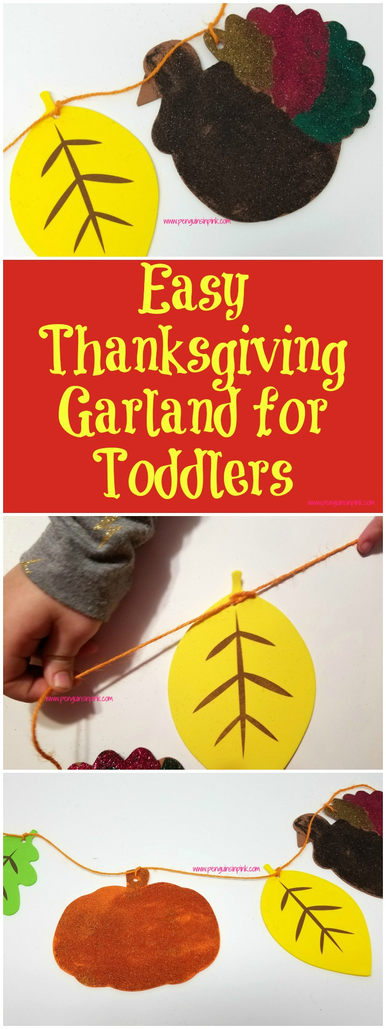 Your little ones will love making this fun and festive Easy Thanksgiving Garland for Toddlers. Not only is it super cute but it allows them to practice fine motor skills, math skills, and life skills.