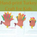 Hand-print Turkey Craft for Kids