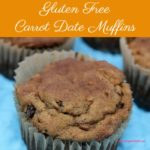Gluten Free Carrot Date Muffins are dairy free, vegan and jammed packed with carrots, dates, and coconut flour and gluten free all-purpose flour.