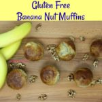 Gluten Free Banana Nut Muffins are light and moist while being big on flavor. They are jam packed with bananas and chopped walnuts.