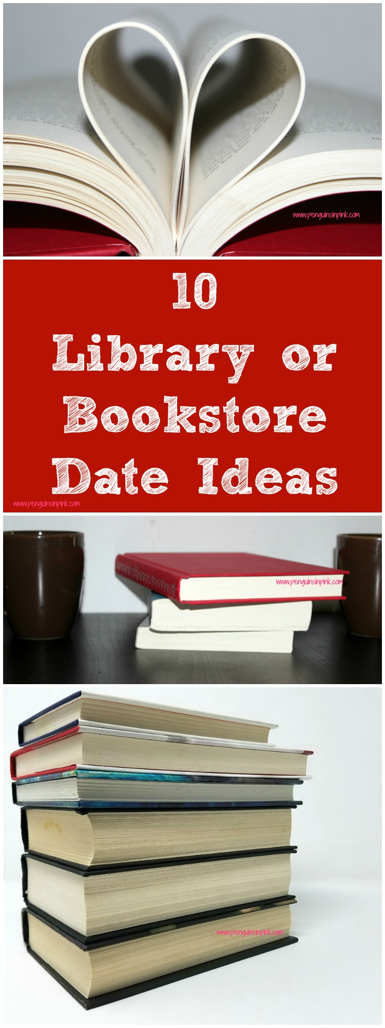 10 Library or Bookstore Date Ideas - 10 inexpensive and fun date ideas for booklovers. Enjoy a great time of browsing books together, learning something new, finding each other's names in book titles and many more.