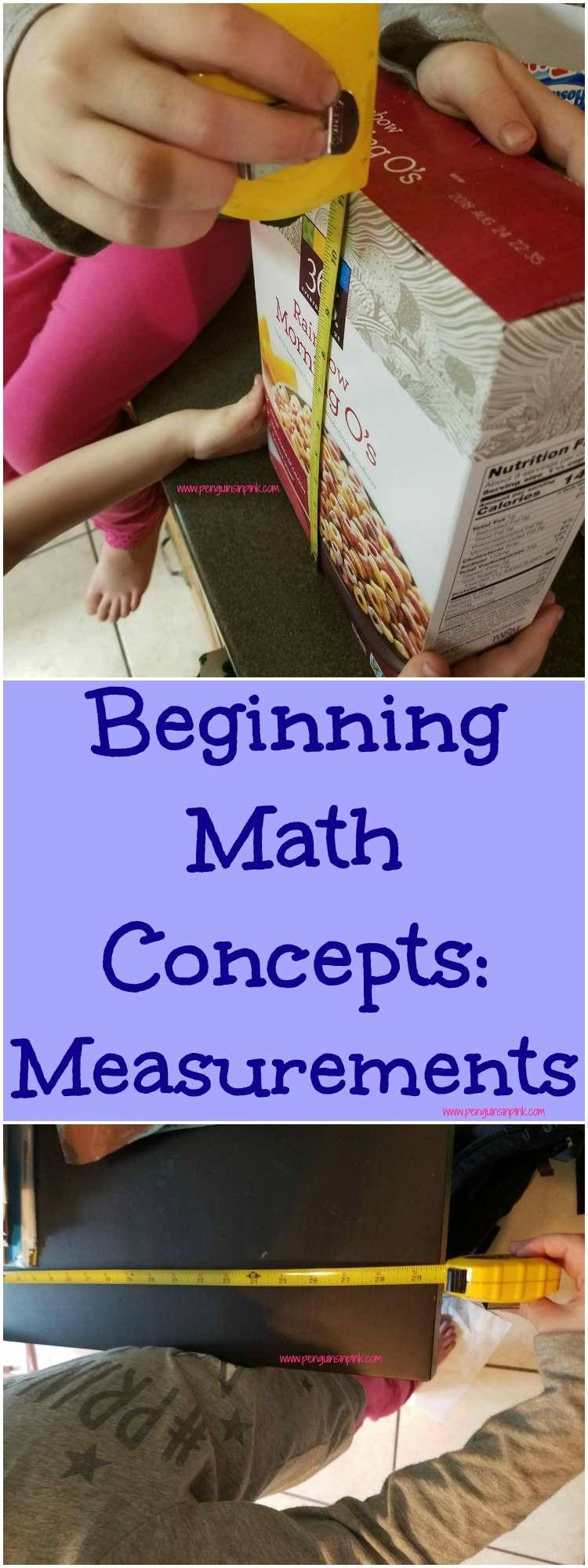 Beginning Math Concepts: Measurements contains 7 activities to introduce the math concept of measurement and reinforcing counting, and greater than, less than, or equal to using different sized objects