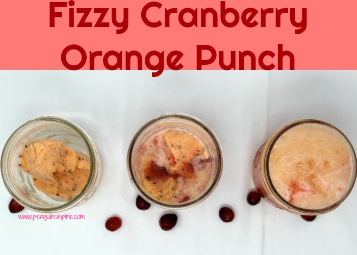 Kids (and adults) absolutely love Fizzy Cranberry Orange Punch because it is sweet and tangy, fizzy and foamy. Made with just 3 ingredients it's super easy and super delicious!