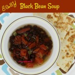 Easy Black Bean Soup is a quick, healthy, and delicious recipe. The black bean soup is made with only three shelf stable ingredients.