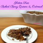 Baked Berry Quinoa and Oatmeal is a hearty, healthy breakfast packed with protein, whole grains, and fruit. It is also gluten free and can easily be made dairy free.