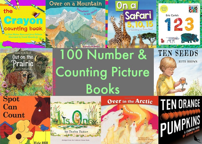 Through this giant list of 100 number and counting picture books, you are sure to find at least a couple that interest your kids. There are 1, 2, 3 books on animals, places like countries or states, art, sports, nature, and so many other topics.