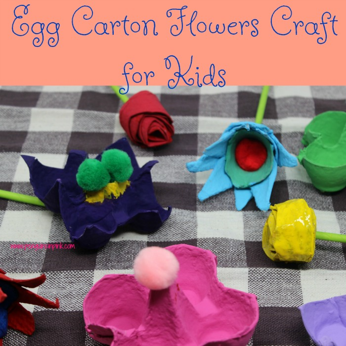 Egg Carton Flowers Craft for Kids