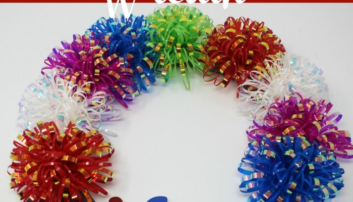 Faux Firework Wreath