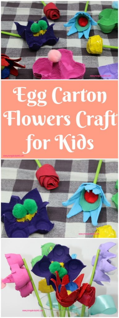 This Egg Carton Flowers Craft for Kids is simple and fun to make. These would make great gifts for Mother's Day, Father's Day, Grandparents Day, a birthday or any other special occasion.