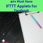 Blogging 101: 40+ Must Have IFTTT Applets for Facebook Automate your Facebook life! Let IFTTT take care of some cross posting, keep your profile pictures in sync and numerous other tasks on both your private Facebook and Facebook Pages accounts.