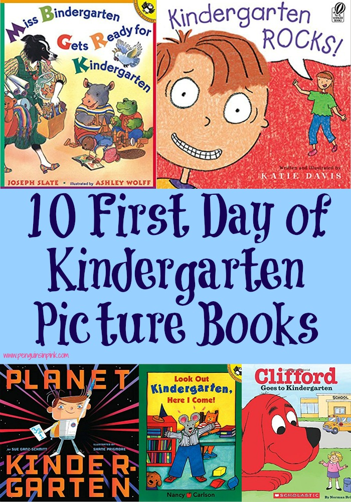 Help ease the first day of Kindergarten fears with these 10 First Day of Kindergarten Picture Books. Some even include the alphabet and counting.