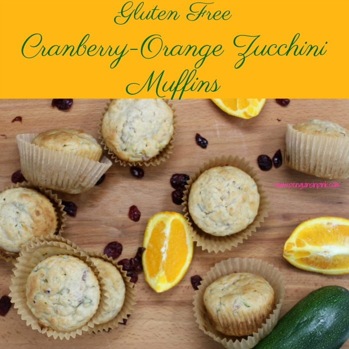 Gluten Free Cranberry-Orange Zucchini Muffins are a light, wholesome, kid-friendly muffin that have a surprise ingredient fresh zucchini.