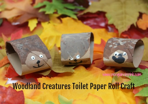 The bear, fox, owl, and hedgehog from this Woodland Creatures Toilet Paper Roll Craft are just so cute. A simple and fun craft for the kids.