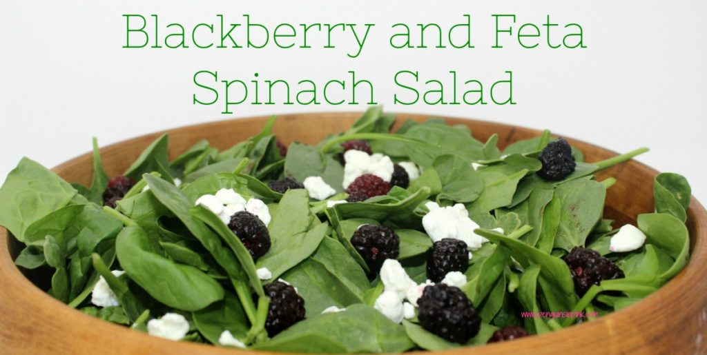 Blackberry and Feta Spinach Salad is a simple, fresh salad that perfectly complements grilled meats like steak, chicken, or pork. It is also gluten free, keto, paleo, THM, and can be made vegan friendly.