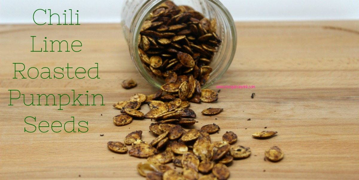 Chili powder and lime juice combine to make spicy, salty, zesty, crunchy roasted pumpkin seeds. Chili Lime Roasted Pumpkin Seeds are a great snack that travels well and is also gluten free, egg free, dairy free, and vegan.