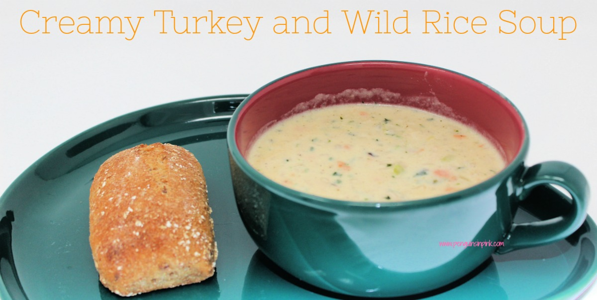 Creamy Turkey and Wild Rice Soup is a hearty combination of savory turkey, earthy wild rice, and slightly crunchy vegetables. The perfect way to use up leftover turkey.