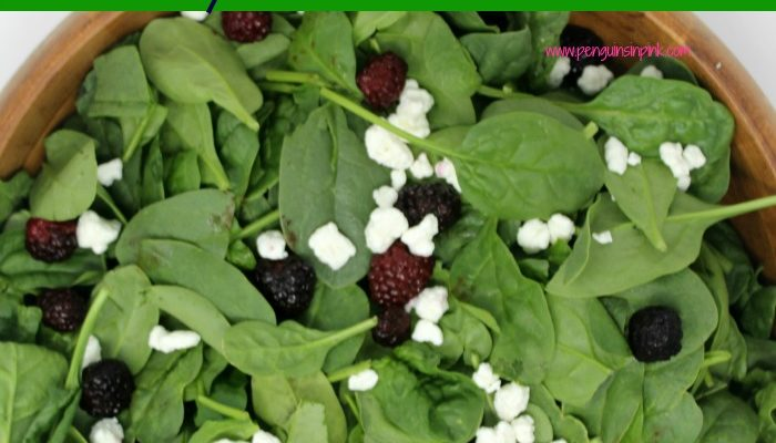 Blackberry and Feta Spinach Salad