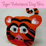 This Tiger Valentine's Day Box is perfect for your little tiger lover. The box is fun and unique. The kids can create their own tiger face.
