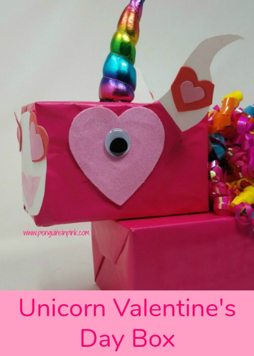 This Unicorn Valentine's Day Box is perfect for your little unicorn lover. The box is fun and unique. The kids can create their own unicorn face.