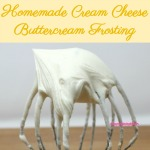A delicious homemade cream cheese buttercream frosting that can be customized with different flavors and is easily dyed for all your decorating needs.