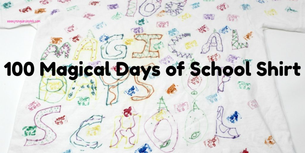 100 Magical Days of School Shirt is perfect for your little unicorn lover. Your child can make a custom unicorn themed 100th day of school shirt.