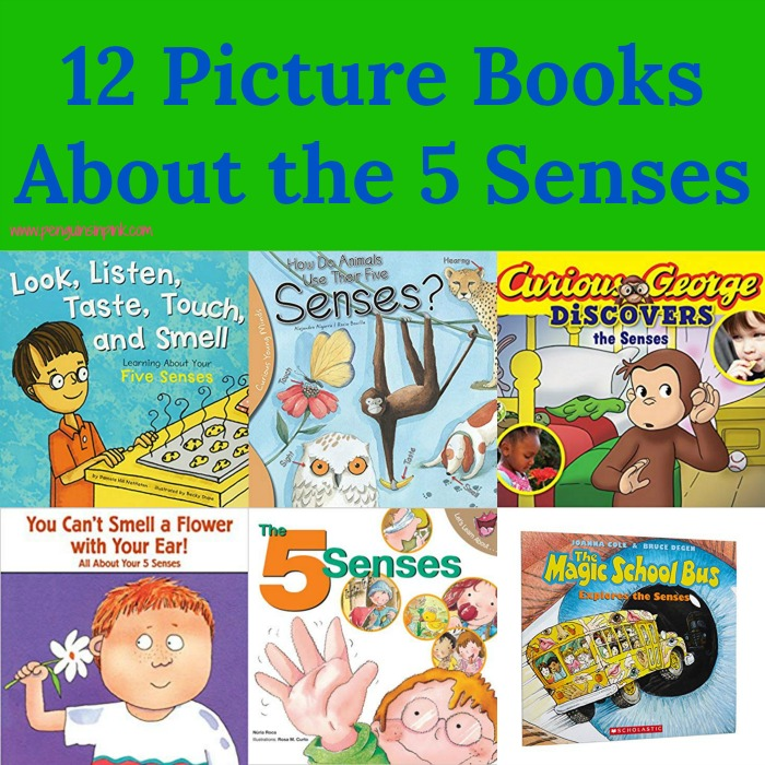 Through this list of 12 Picture Books About the 5 Senses, you are sure to find at least a couple that interest your kids. There are 5 senses books that feature animals, art, and nature.