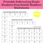 These FREE printable subtracting single numbers from double numbers worksheets contain one page of subtracting 0 - 9 from a double number. Then five pages of subtracting 0 - 9 from 10 - 99. Each page of the packet contains 40 problems.