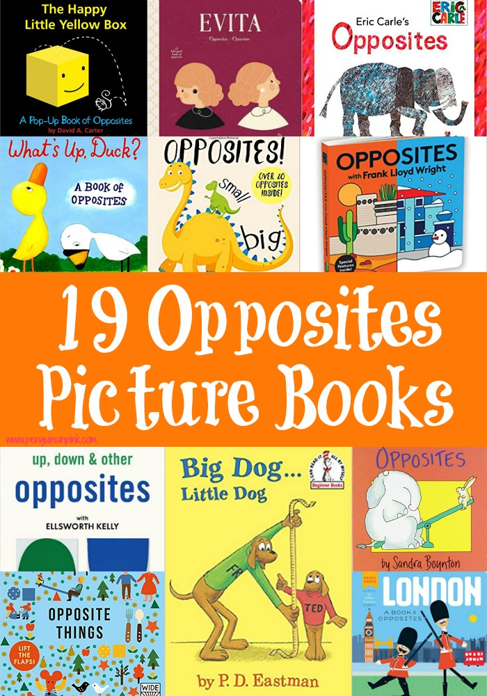 Through this list of 19 Opposites Picture Books, you are sure to find at least a couple that interest your kids. There are opposites books on animals, art, and nature.