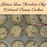 Combining the best of both worlds, these soft and chewy gluten free chocolate chip oatmeal raisin cookies are sure to be a hit.