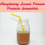 Sneak some protein and veggies into picky eaters with this delicious Raspberry Sweet Potato Protein Smoothie. Packed with protein, probiotics, and fiber it's a healthy treat for kids!