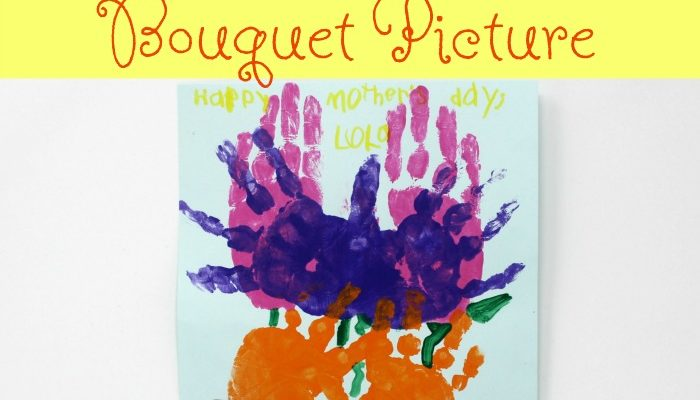 Handprint Flower Bouquet Picture
