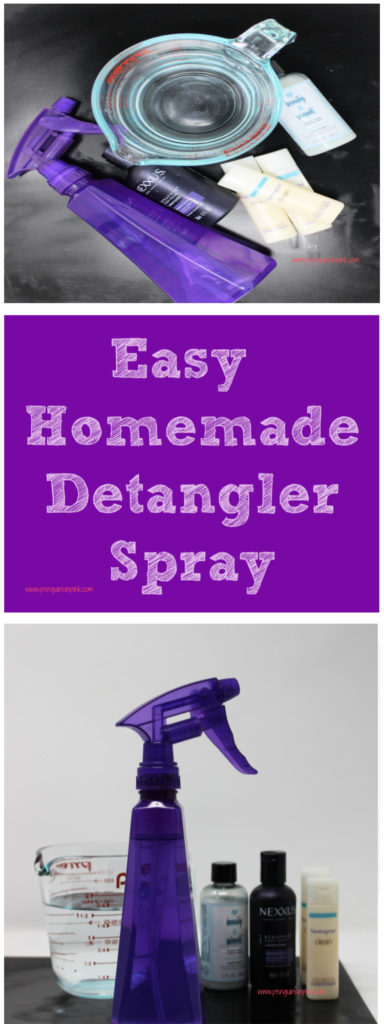 This easy homemade detangler spray is effortless to make and takes less than 5 minutes to whip up. It only contains 2 ingredients and can be made for practically nothing!