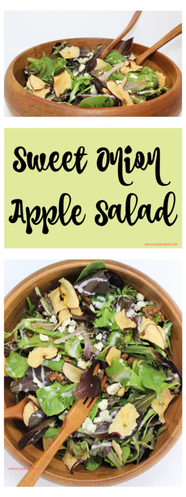 Sweet Onion Apple Salad is a fantastic and simple salad that perfectly complements grilled meats like steak, chicken, or pork.