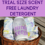 Trial Size Scent Free Laundry Detergent is perfect for you to test out if homemade laundry detergent is right for your family. It makes about 85 loads worth of detergent for less than $7.