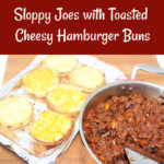 These sloppy joes are sweet and savory with the perfect balance of tang and zest. And best of all they served on toasted, cheesy hamburger bun.