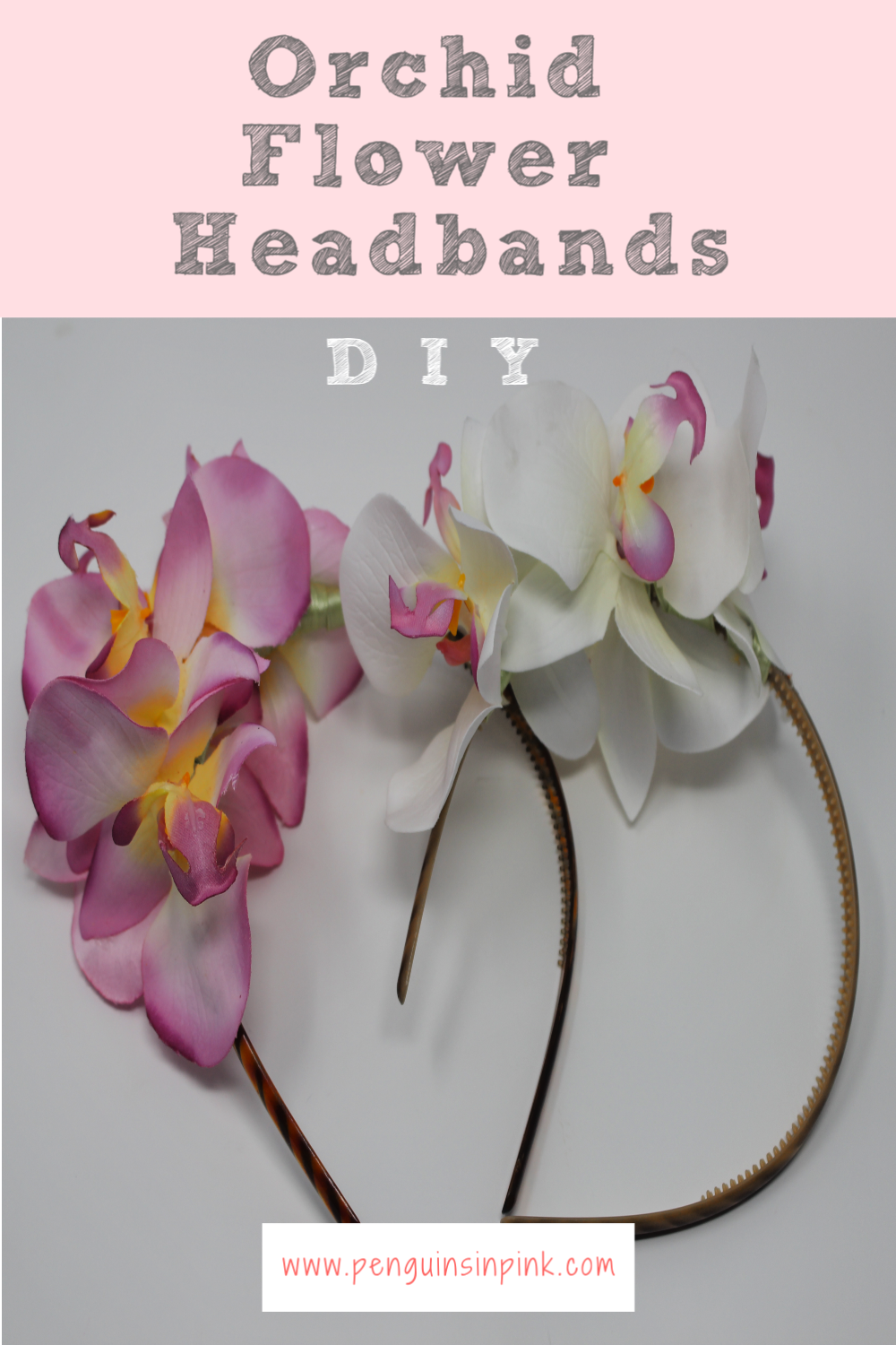 These DIY Orchid Flower Headbands are super adorable and fairly easy to make. They are a fun way to sassy up a plain headband.