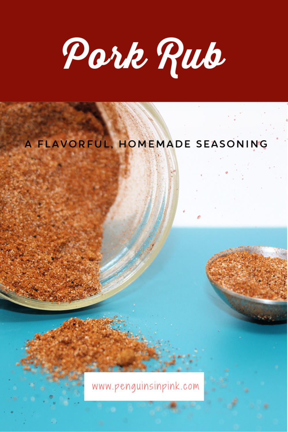 A flavorful, homemade version of pork rub seasoning. It is a mix of cumin, chili, and a few other common household spices.