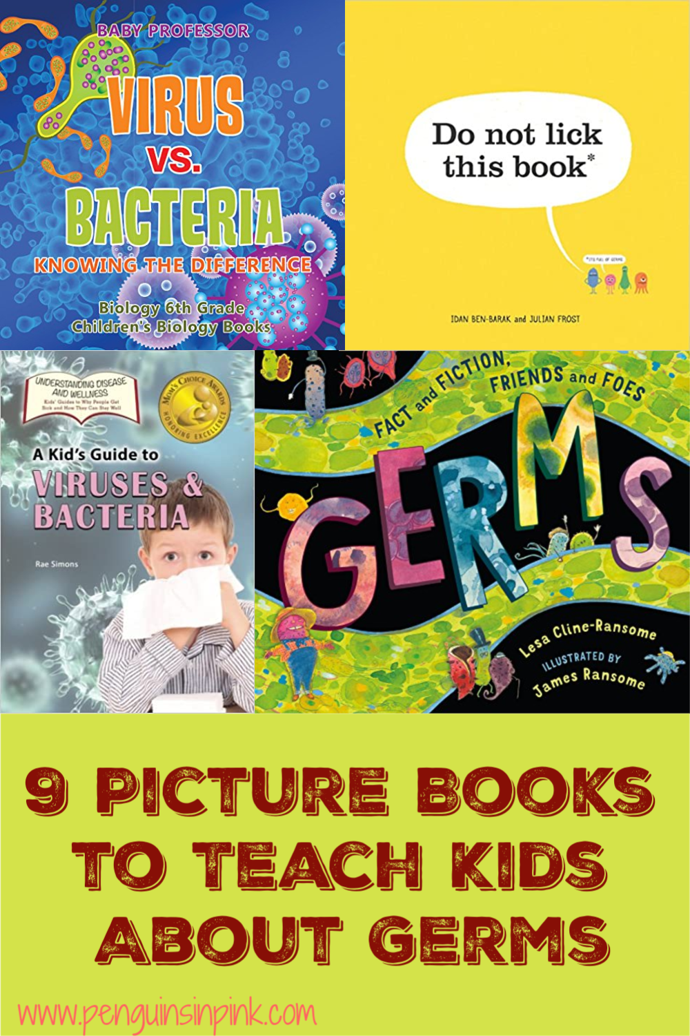 From preschoolers to 6th graders this list of 9 Picture Books to Teach Kids About Germs is sure to answer questions and educate your kids about the fascinating world of microbiology.