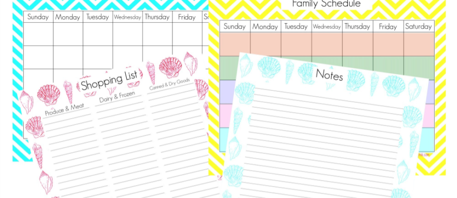 4 Home Management Printables Summer Edition