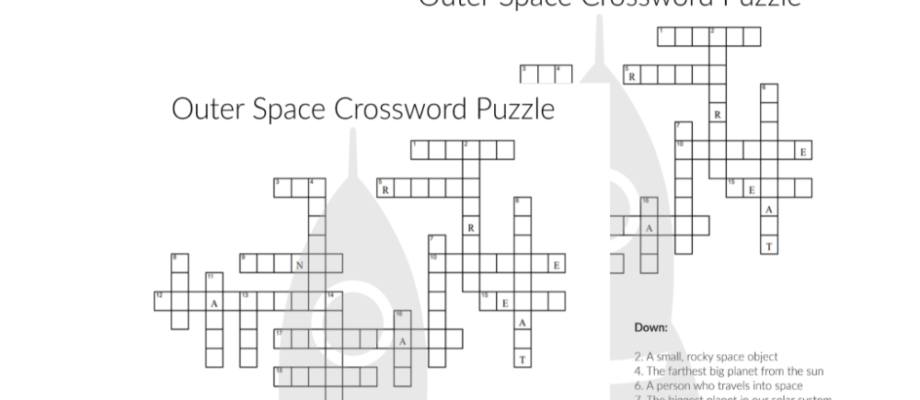 Printable Space Themed Crossword Puzzle