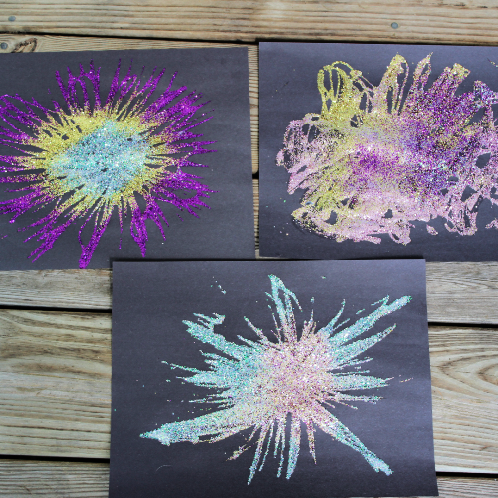 These 5 Ways to Make Firework Art are a perfect activity to celebrate Memorial Day, 4th of July, Labor Day, or a summer birthday. They are simple and entertaining to make. Kids can work on fine and gross motor skills while creating a unique piece of art.
